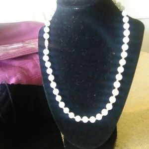 Celadon Jade 20inch necklace 14k